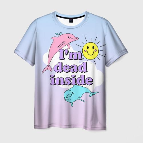 Мужская 3D футболка Dead Inside