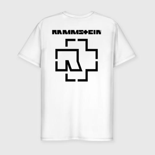 Мужская футболка премиум с принтом RAMMSTEIN (НА СПИНЕ), вид сзади #1