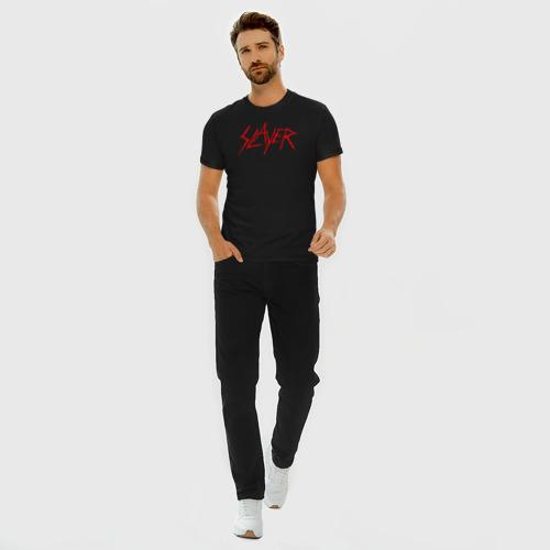 Мужская футболка премиум с принтом SLAYER (5), вид сбоку #3