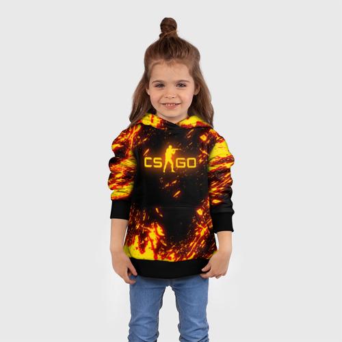 Детская 3D толстовка с принтом CS GO FIRE   КС ГО ОГОНЬ, вид сбоку #3