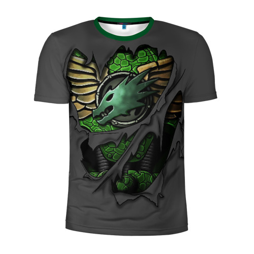 Мужская футболка 3D спортивная Доспехи Саламандр