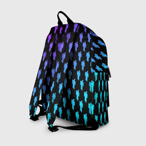 Рюкзак 3D с принтом BILLIE EILISH PATTERN, вид сзади #1