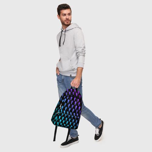 Рюкзак 3D с принтом BILLIE EILISH PATTERN, фото #5