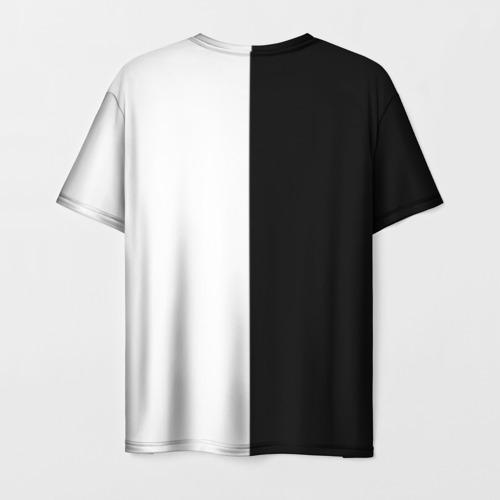 Мужская 3D футболка с принтом Nerv black, вид сзади #1