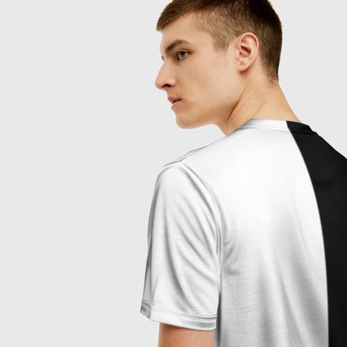 Мужская 3D футболка с принтом Nerv black, вид сзади #2