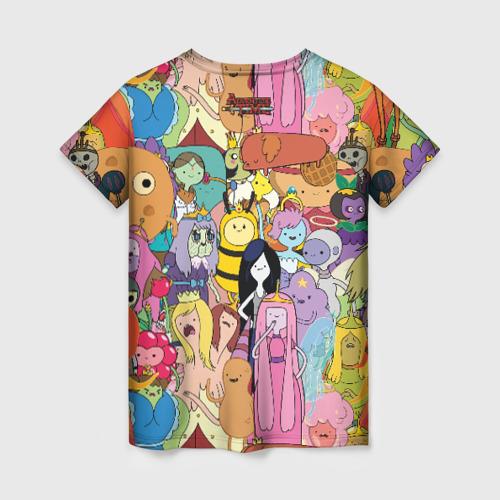 Женская 3D футболка с принтом Adventure time, вид сзади #1