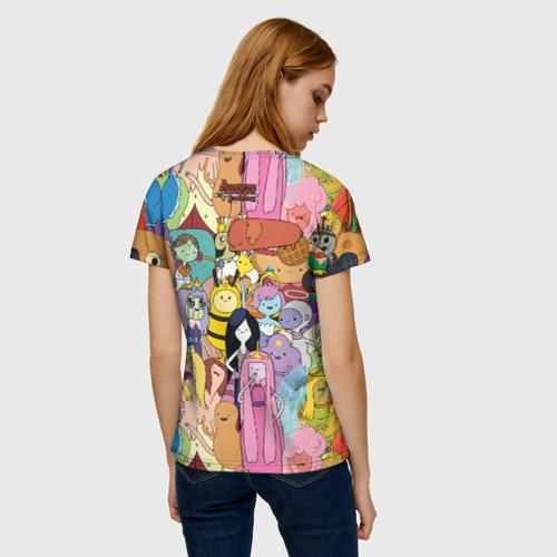 Женская 3D футболка с принтом Adventure time, вид сзади #2
