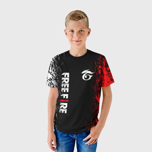 Детская 3D футболка с принтом GARENA FREE FIRE, фото на моделе #1