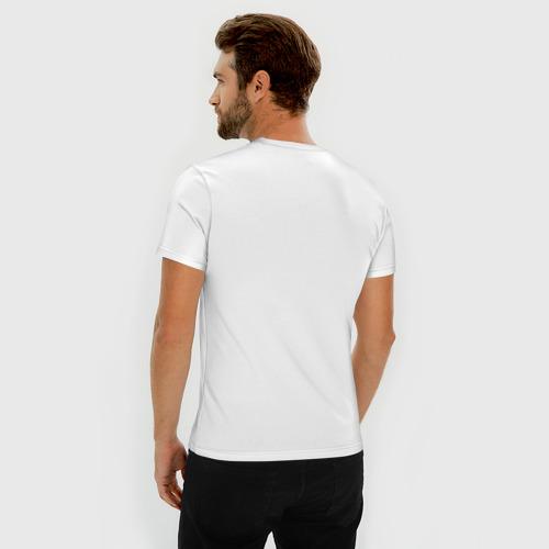 Мужская футболка премиум с принтом Я не старею, я повышаю уровень!, вид сзади #2
