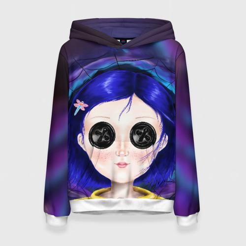 Женская 3D толстовка с принтом Coraline, вид спереди #2