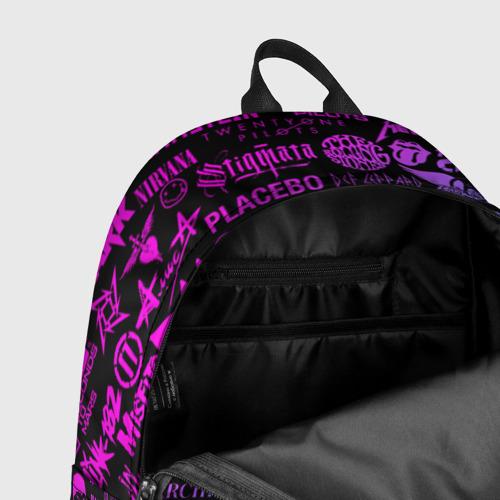 Рюкзак 3D с принтом ЛОГОТИПЫ РОК ГРУПП, фото #7