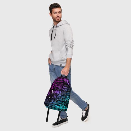 Рюкзак 3D с принтом ЛОГОТИПЫ РОК ГРУПП, фото #5