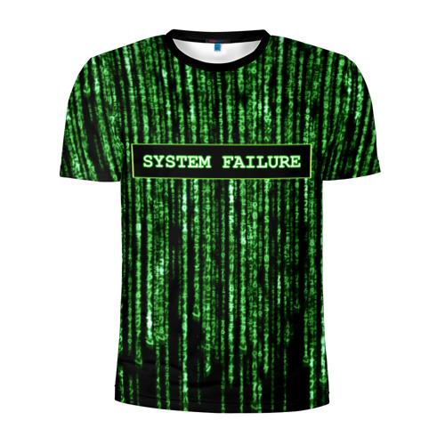 Мужская футболка 3D спортивная System failure