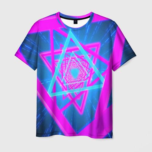 Мужская 3D футболка MUSIC NEON
