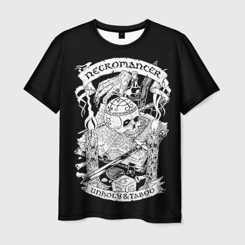 Мужская 3D футболка Necromancer