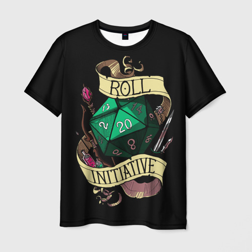 Мужская 3D футболка Roll 20