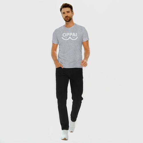 Мужская футболка премиум с принтом Белый оппай, вид сбоку #3