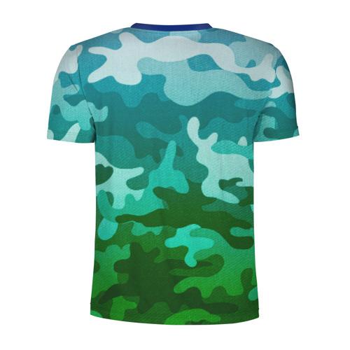 Мужская футболка 3D спортивная с принтом Душа поёт, вид сзади #1