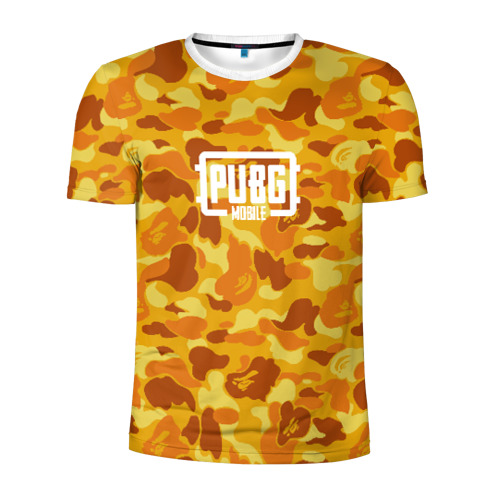 Мужская футболка 3D спортивная PUBG x BAPE