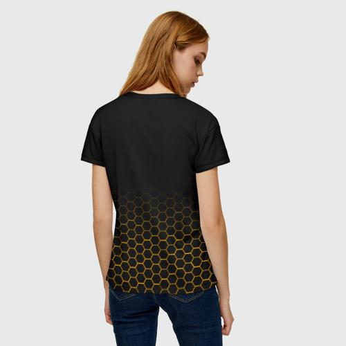Женская 3D футболка с принтом BORDERLANDS 3 - HYPERION, вид сзади #2