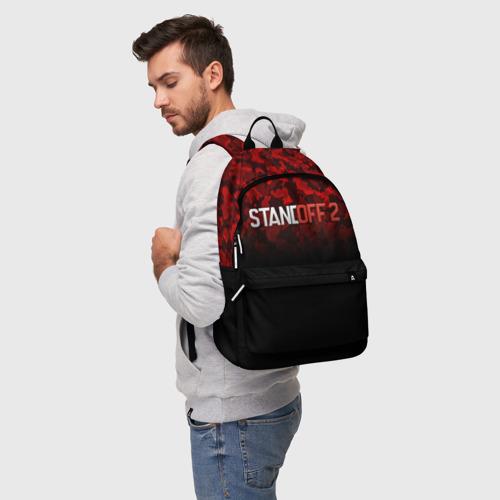 Рюкзак 3D с принтом STANDOFF 2 | СТАНДОФФ 2, фото на моделе #1