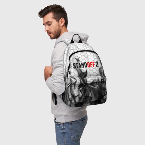 Рюкзак 3D с принтом STANDOFF 2, фото на моделе #1
