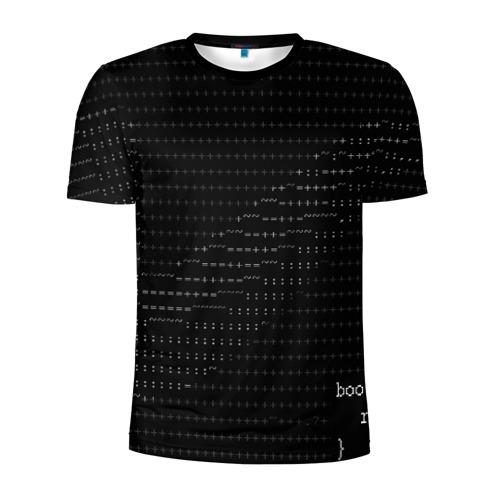 Мужская футболка 3D спортивная с принтом СИМВОЛЬНЫЙ КОД, вид спереди #2