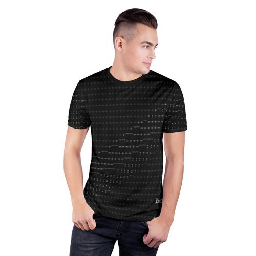 Мужская футболка 3D спортивная с принтом СИМВОЛЬНЫЙ КОД, фото на моделе #1