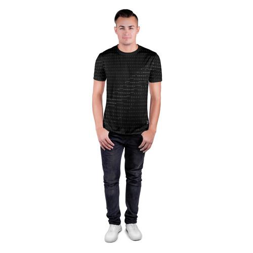 Мужская футболка 3D спортивная с принтом СИМВОЛЬНЫЙ КОД, вид сбоку #3