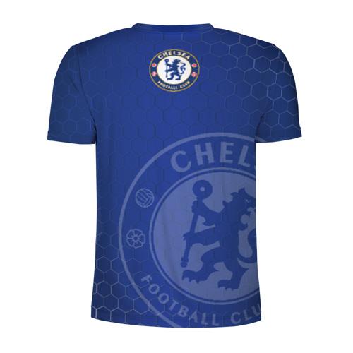 Мужская футболка 3D спортивная с принтом Челси, вид сзади #1