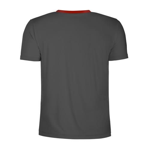 Мужская футболка 3D спортивная с принтом Герои JoJo на сером, вид сзади #1
