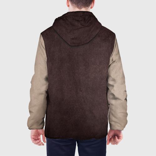 Мужская куртка 3D с принтом Из игры Горячая линия Майами, вид сзади #2