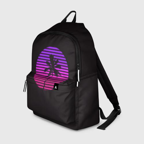 Рюкзак 3D с принтом Hotline Maiami, вид спереди #2