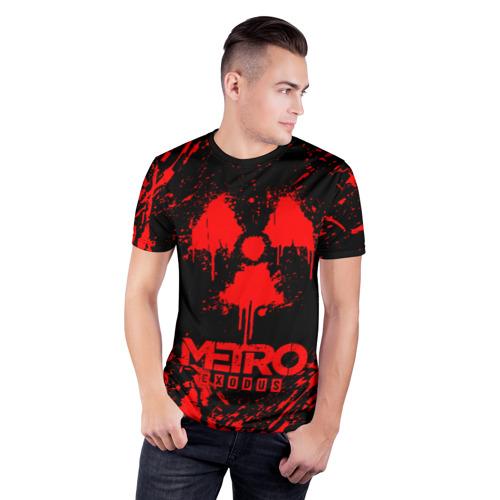 Мужская футболка 3D спортивная с принтом METRO EXODUS, фото на моделе #1