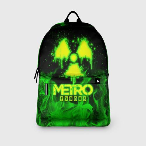 Рюкзак 3D с принтом METRO EXODUS, вид сбоку #3