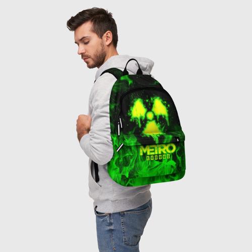 Рюкзак 3D с принтом METRO EXODUS, фото на моделе #1