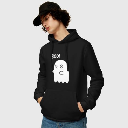 Мужская толстовка-худи с принтом Хэллоуин, фото на моделе #1
