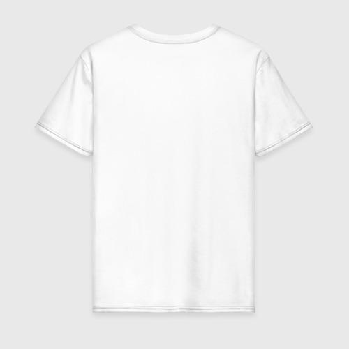 Мужская футболка с принтом Все как у людей, вид сзади #1