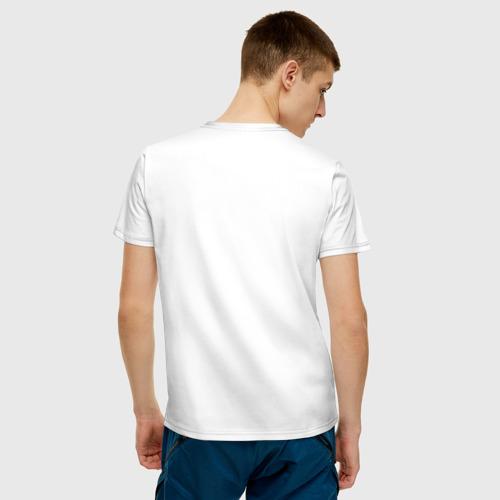 Мужская футболка с принтом Все как у людей, вид сзади #2