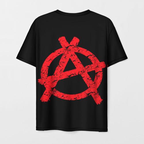 Мужская 3D футболка с принтом ГрОб + Анархия (спина), вид сзади #1
