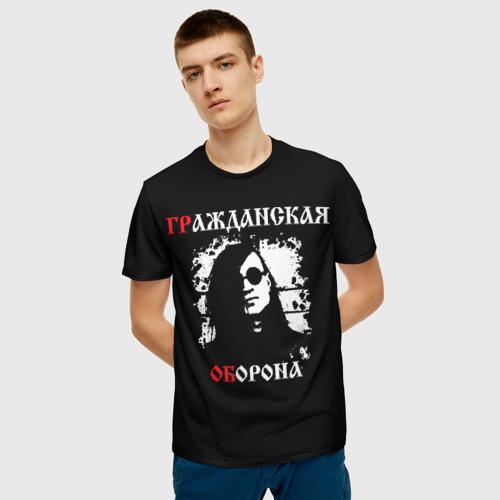 Мужская 3D футболка с принтом ГрОб + Анархия (спина), фото на моделе #1