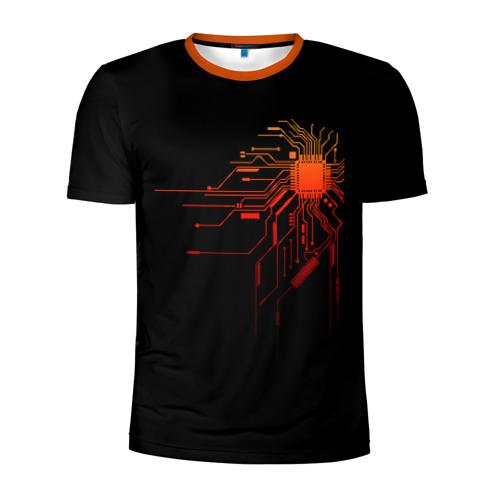Мужская футболка 3D спортивная Fire IC
