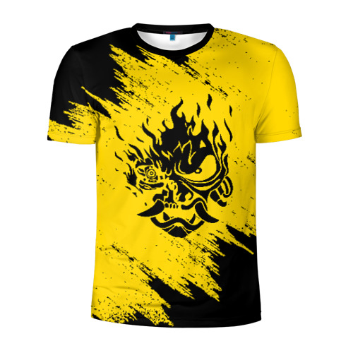 Мужская футболка 3D спортивная CYBERPUNK 2077 SAMURAI