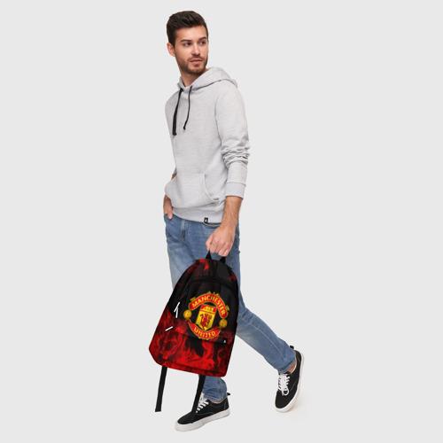 Рюкзак 3D с принтом МАНЧЕСТЕР ЮНАЙТЕД | FCMU | MANCHESTER UNITED, фото #5