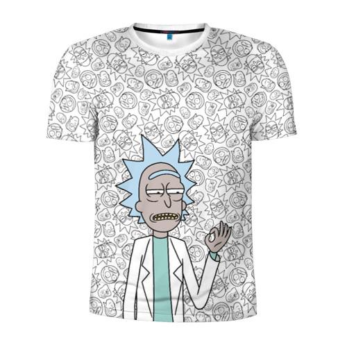 Мужская футболка 3D спортивная Rick Sanchez ok