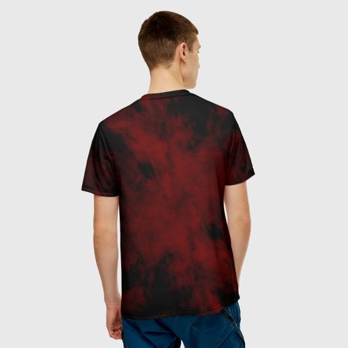 Мужская 3D футболка с принтом SCORPIONS, вид сзади #2