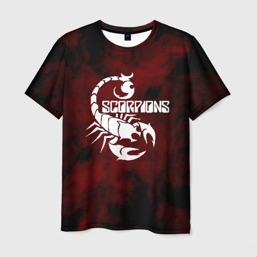 Мужская 3D футболка с принтом SCORPIONS, вид спереди #2