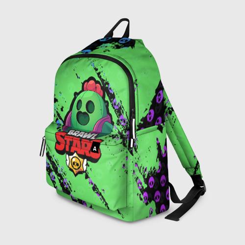 Рюкзак 3D с принтом Brawl Stars, вид спереди #2
