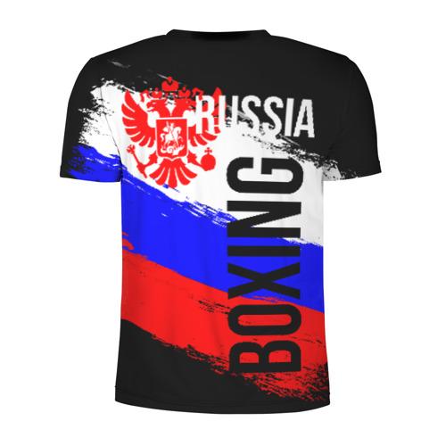 Мужская футболка 3D спортивная с принтом Boxing Russia Team, вид сзади #1