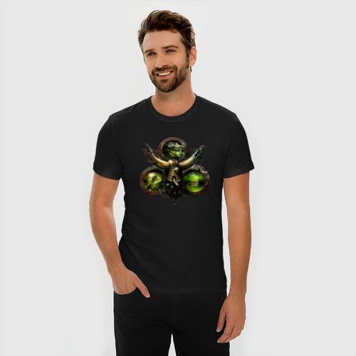 Мужская футболка премиум с принтом Warhammer 40 000 Nurgle, фото на моделе #1